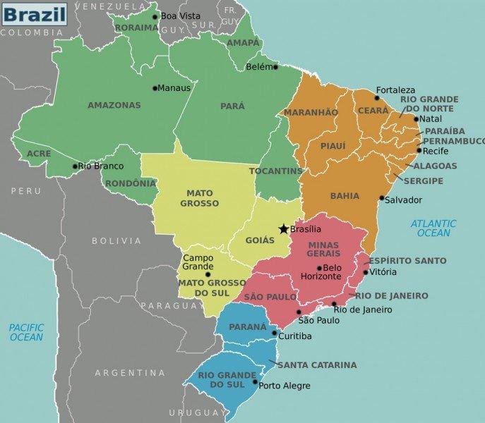 Карта-штатов