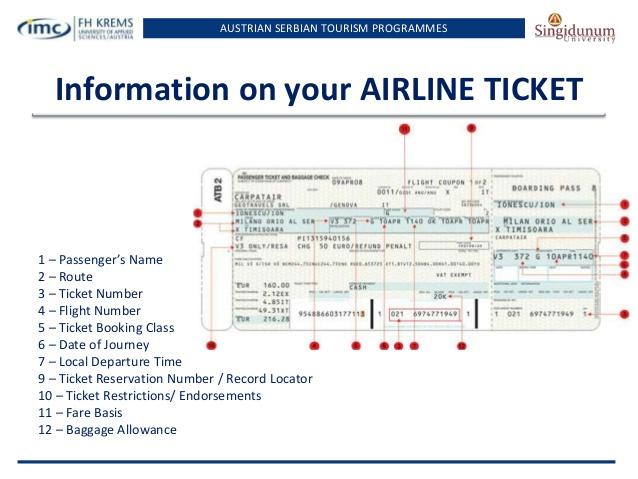 информация с электронного авиабилета